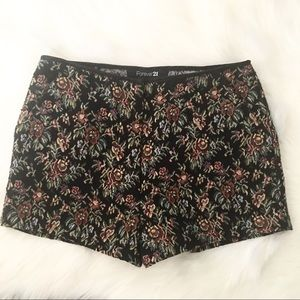 High Rise Tapestry Shorts